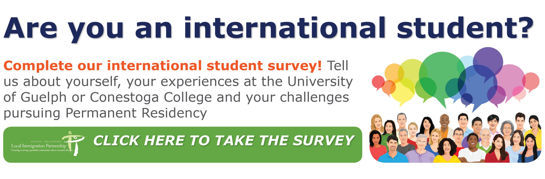 Website International Student Survey Link Image
